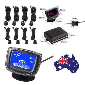 Car Reverse 8 Sensors Parking System Front Rear Buzzer Alarm LCD Display Kit NEW