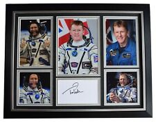 More details for tim peake signed autograph 16x12 framed photo display space astronaut aftal coa