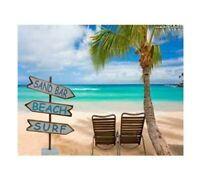 Beach House SURF BEACH SAND Sign Post Coastal Home Decor Household Decoration