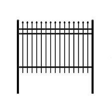 ALEKO Rome Style DIY Disassembled Steel Yard Fence 8Ft x 4Ft Black Lot Of 4