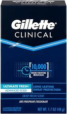 Gillette Clinical Anti-Perspirant Deodorant,Ultimate Fresh Solid 1.70oz 9 pack