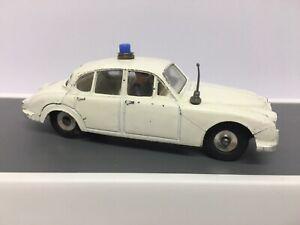 Dinky 269 Jaguar 3.4ltr Motorway Police Car RARE! Matt White Variant 1960's