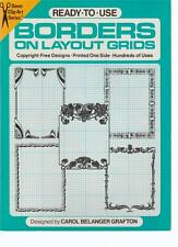 Borders on Layout Grids Graphics Clip Art Dover Grafton PB 1985 Ready to Use