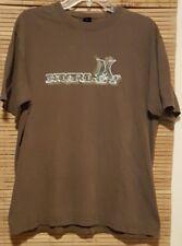 Hurley Surf Beach Skate Skateboard Worn Distressed Retro Brown T Shirt L