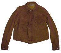 kurze LEVI`S Mädchen- Jacke/ LEVIS Cord- Jeans- Jacke in rost- rot Gr. L