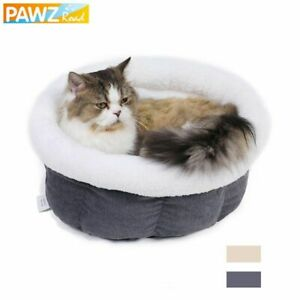 Plush Cat Bed Round Sleeping Warm Nest Mat Super Soft Pet Kennel For Kittens