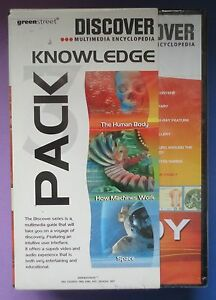 DISCOVER KNOWLEDGE PC CD-ROM 3 PACK BUNDLE: BODY, MACHINES, OUTER SPACE sealed!