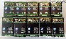 KTM Duke 690 (de 2012 a 2017) 1ST y 2ND Hiflofiltro Filtros De Aceite (HF651/HF155) X 10