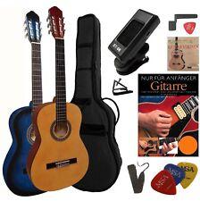 4/4 Konzertgitarre im 10-teiligen Gitarre Classic Starter Set = Tasche,Schule...