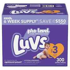 Luvs Pro Level Leak Protection Diapers six week sup 3,4,5,6 - (Choose Your Size)