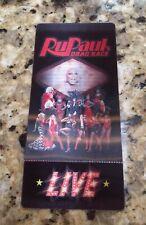 RuPaul's Drag Race Live Las Vegas 3D Lenticular Collector Ticket FINAL SHOW