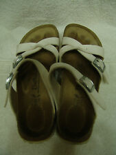 BETULA BY BIRKENSTOCK WHITE STRAPPY SANDALS LADIES SIZE  7 1/2