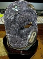 URUGUAY AMETHYST / QUARTZ CRYSTAL  CLUSTER  GEODE AGATE CATHEDRAL STALACTITE