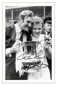 DON REVIE & BILLY BREMNER Signed Autograph PHOTO Signature Print LEEDS UNITED
