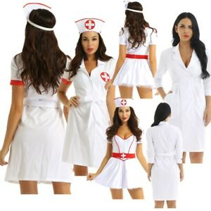 Sexy Ladies Nurse Costume Adult Hospital Fancy Dress Uniform Hen Party Outfit