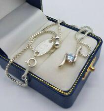 Nikki Barrett silver tone diamante pendant Fine necklace 27cm