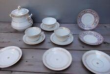 Porcelaine de Paris XIXème divers pour service café