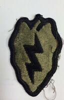 Vietnam era US Army 25th Infantry Division OD Subdued Green patch #25