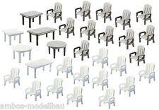 Faller 180439 H0, 24 Gartenstühle und 6 -Tische, Epoche III, Neu