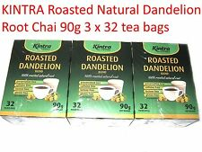 3 x 32 bags KINTRA Roasted Natural Dandelion Root Chai (96 Filter bags / 270g )
