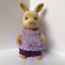 Sylvanian families clothes ~ knitted Purple TexturedTop & Purple Pants~ Adult