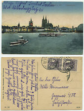 33727 - Köln am Rhein - Ansichtskarte, gelaufen 20.7.1920 nach Gaggenau