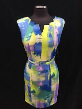 "ELLEN TRACY DRESS/SIZE 14/RETAIL$129/LENGTH 40""/STRETCH SCUBA FABRIC"