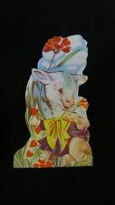 Vintage Lamb Valentine Card 1950s