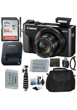 Canon PowerShot G7X Mark II Digital Camera BUNDLE! Includes Carrying Case & More