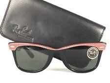 VINTAGE RAY BAN WAYFARER CLASSIC ROSE & BLACK G15  LENS BL US SUNGLASSES