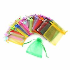 100 pcs gift bags for jewelry in various color, from organza M7S1