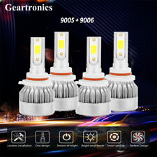 9005+9006 6000K CREE LED 3300W 495000LM Combo Headlight Kits High + Low Beam 6K