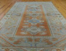 """Antique 4'2""""×6'7& #034;Muted Natural Dyes Exquisite Wool Pile Area Rug"""
