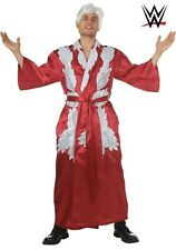 WIG INC WWE RIC FLAIR COSTUME LARGE COSPLAY  MENS RED ROBE FANCY DRESS COMPLETE
