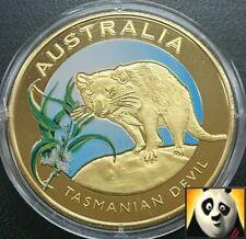 2010 AUSTRALIA 40mm Tasmanian Devil Bronze Coloured Coin Medal Only 10,000!