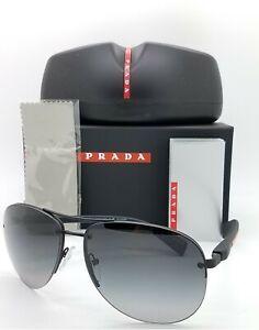 New Prada Aviator sunglasses PS 56MS DG05W1 65 Polarized Grey Gradient AUTHENTIC