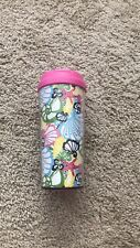 Lilly Pulitzer Chiquita Bonita Seashell Travel Thermal Mug Tumbler Cup Coffee