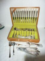 Vintage Silverware in Box 95 Pieces 1847 Rogers & Gee-Esco Plate 2 Different Set
