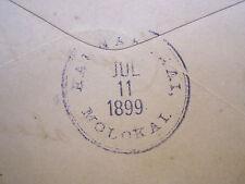 1899 Hawaii Police Cover with Scarce nearly full Kaunakakai Molokai Postmark