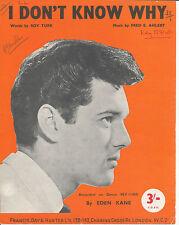 Non so perché-EDEN KANE - 1962 Spartiti