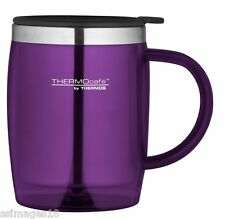 Thermos Thermocafe 0.45 Litre Desktop Mug Purple Camping Picnic Cup Coffee Tea