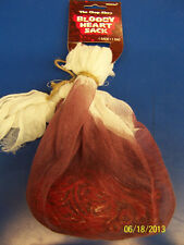 Chop Shop Halloween Haunted House Carnival Party Decoration Bloody Heart Sack