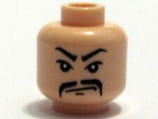 LEGO INDIANA JONES - Minifig, Head Moustache Fu Manchu and Scowl