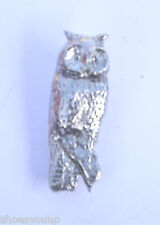 Owl Wise Barn Owl Handcrafted in Solid Pewter In The Lapel Pin Badge