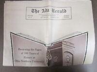 The Ada Ohio Herald Centennial Newspaper - 1970 - Ohio Northern University