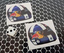X 2 David Coulthard Casco Pegatinas F1 Red Bull de Fórmula 1