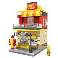Street View M Burger LOZ Diamond Building Blocks iBlock Fun b GTC