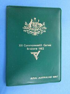 1982 Australia Brisbane Commonwealth Games Green RAM Wallet 6 Coin UNC Set