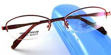 Women Titanium Glasses Eyewear Fashion Eyeglasses HalfRim Frame Eye Oval Light