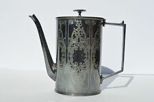 ANTIQUE BEAUTIFULLY ENGRAVED ADELPHI SILVERPLATE COFFER/CHOCOLATE POT